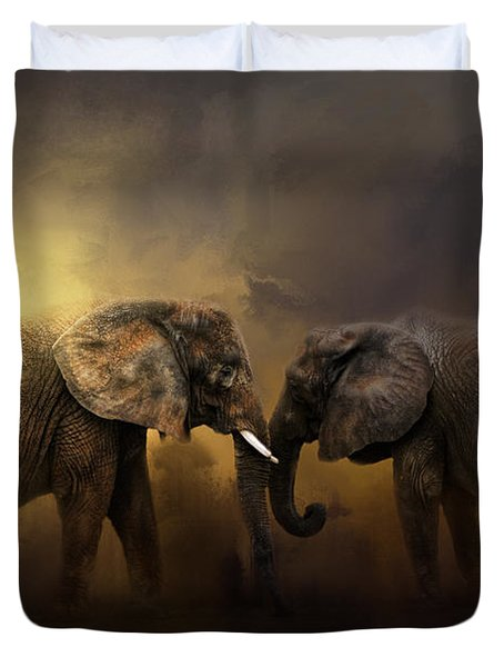 Together Through The Storms Duvet Cover