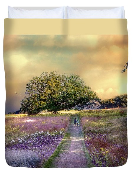 Together We Can Weather The Storms Duvet Cover