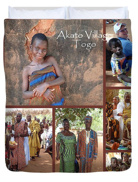 Togo Village In West Africa Collage Duvet Cover