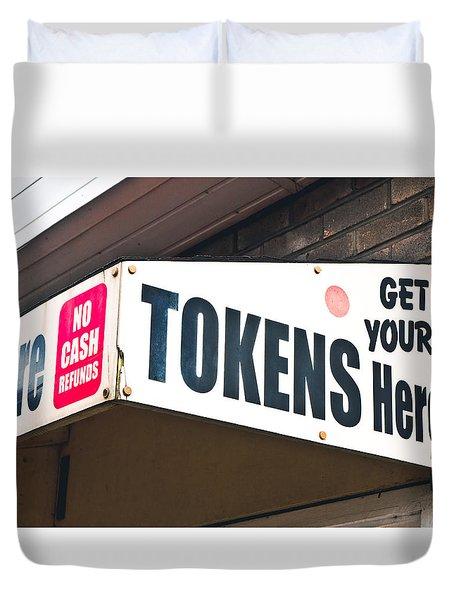 Token Kiosk Duvet Cover