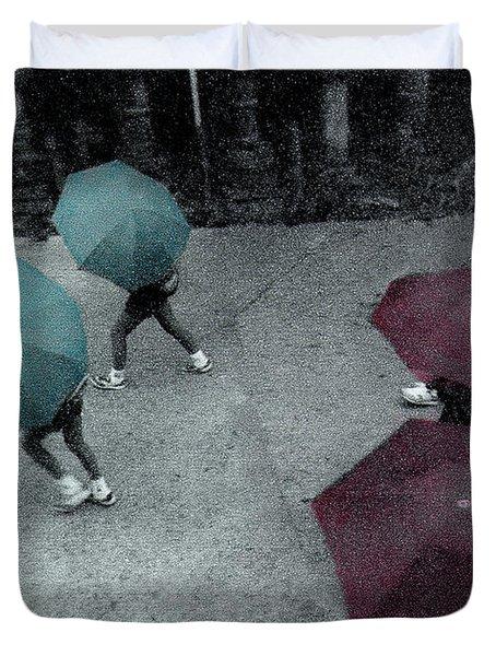 Tokyo Rain Duvet Cover