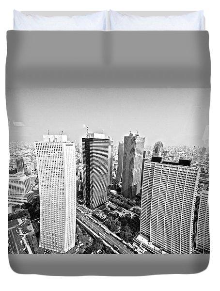 Tokyo Skyline Duvet Cover