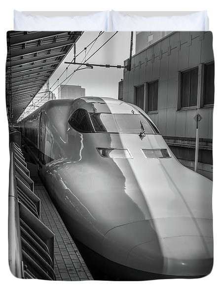 Tokyo To Kyoto Bullet Train, Japan 3 Duvet Cover