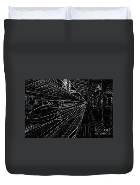 Tokyo To Kyoto, Bullet Train, Japan Negative Duvet Cover