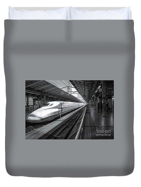 Tokyo To Kyoto, Bullet Train, Japan Duvet Cover
