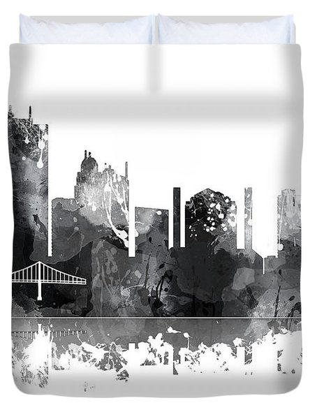 Toledo Ohio Skyline Duvet Cover