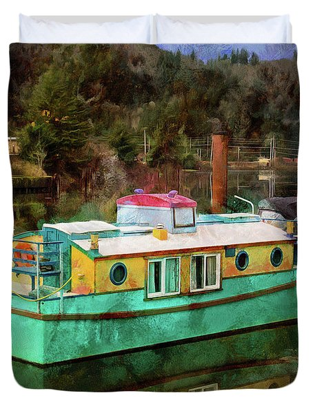 Duvet Cover featuring the photograph Toledo Showboat by Thom Zehrfeld