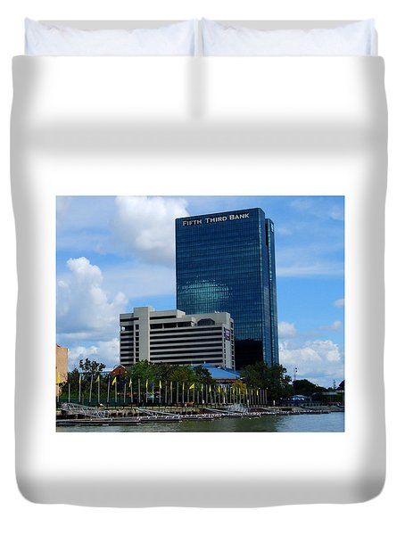 Toledo's Waterfront I Duvet Cover by Michiale Schneider