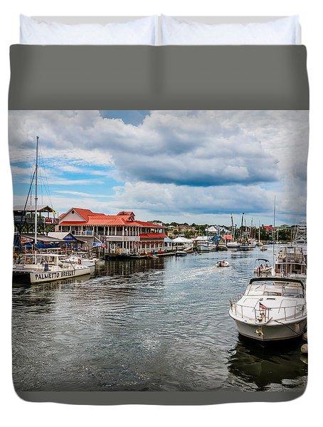 Toler's Cove Marina Duvet Cover by Doug Long