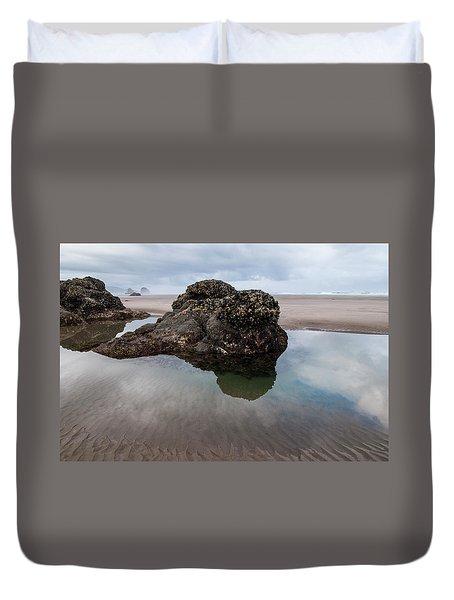 Tolovana Beach At Low Tide Duvet Cover