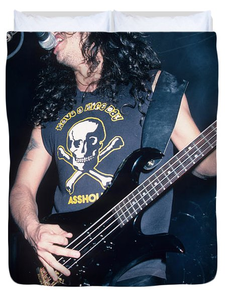 Tom Araya Of Slayer Duvet Cover