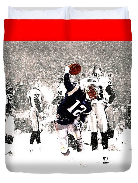 Tom Brady Touchdown Spike Duvet Cover