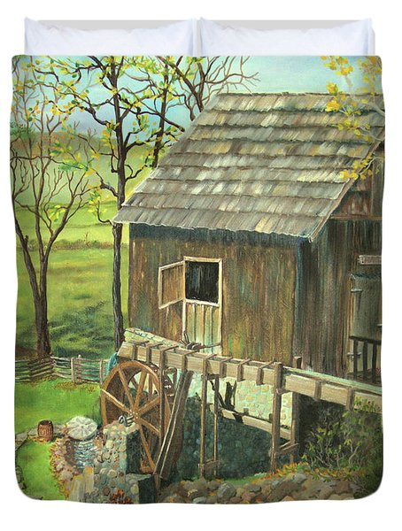Tom Lott's Mill In Georgia Duvet Cover