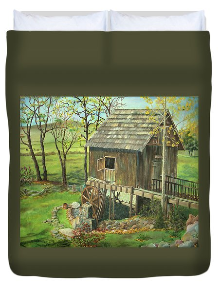 Tom Lott's Mill In Georgia Duvet Cover