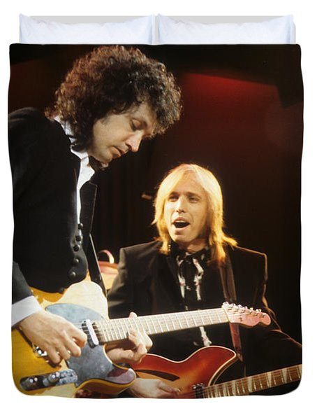 Tom Petty And Mike Campbell Duvet Cover