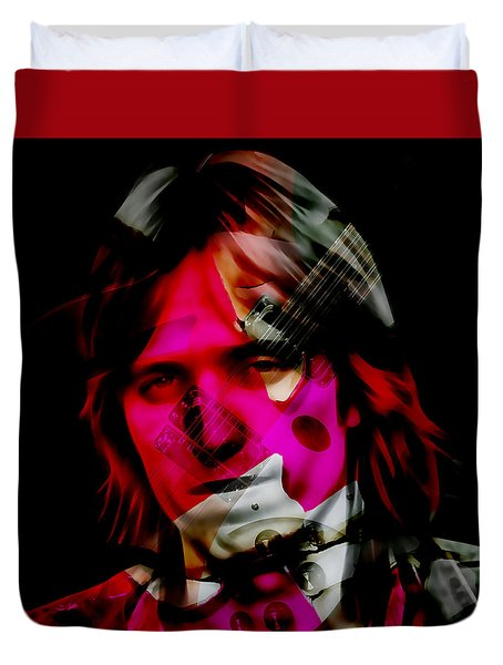 Duvet Cover featuring the mixed media Tom Petty Rock And Roll by Marvin Blaine
