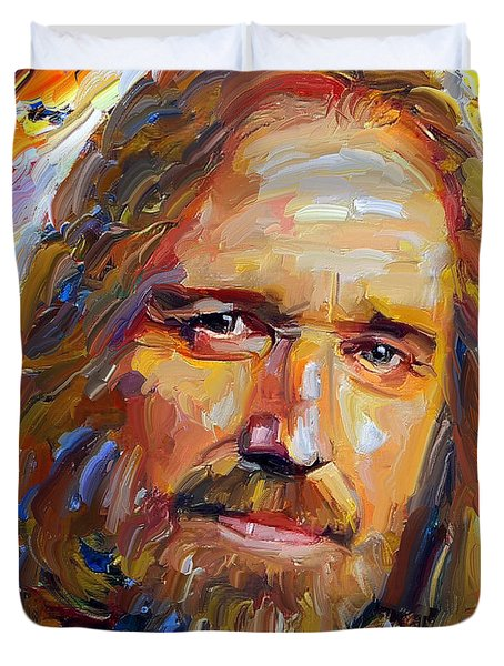 Tom Petty Tribute Portrait 1 Duvet Cover