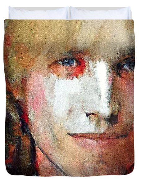 Tom Petty Tribute Portrait 3 Duvet Cover