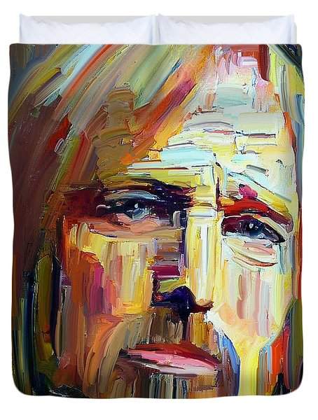 Tom Petty Tribute Portrait 4 Duvet Cover