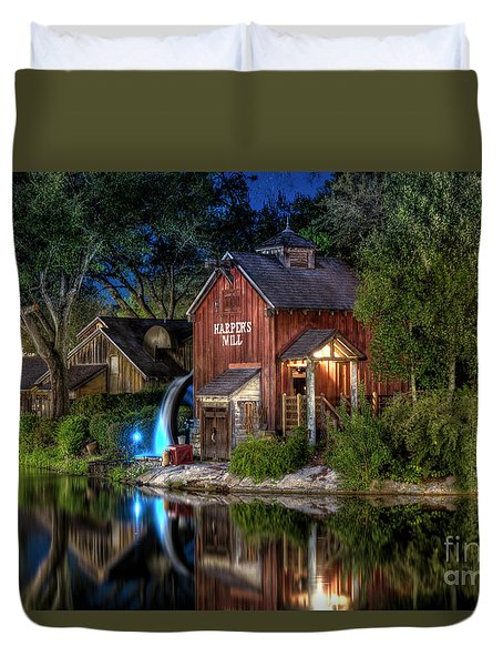Tom Sawyers Harper's Mill Duvet Cover