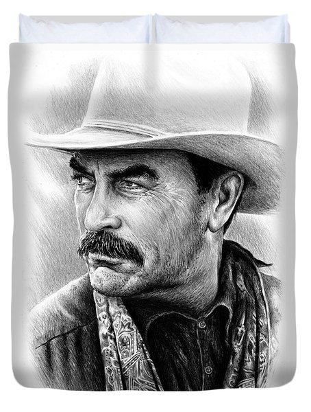 Tom Selleck As Monty Walsh Duvet Cover