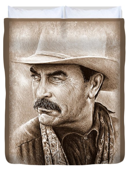 Tom Selleck The Western Collection Duvet Cover