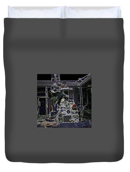 Tom Waits Jamming Duvet Cover