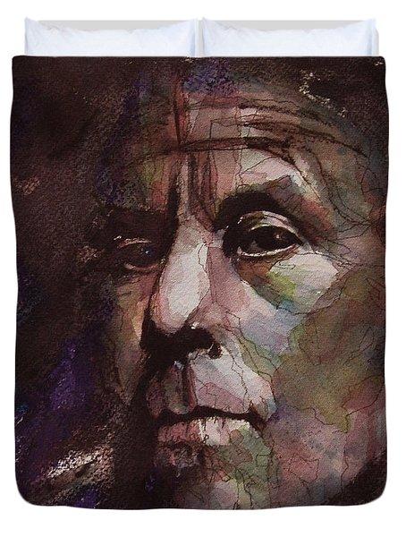 Tom Waits Art Duvet Cover
