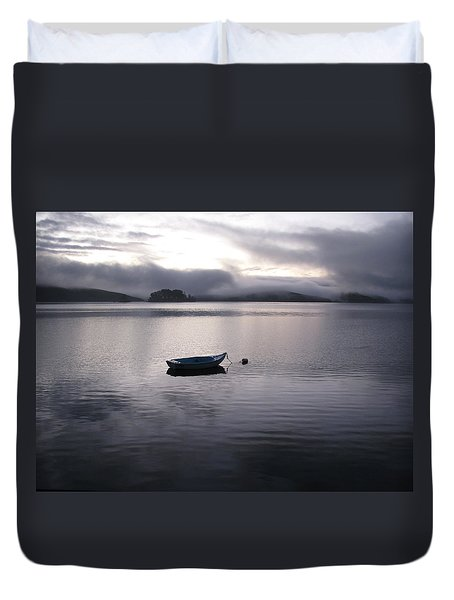 Duvet Cover featuring the photograph Tomales Bay At Sunset by Dianne Levy