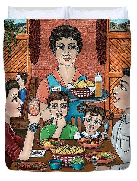 Tomasitas Restaurant Duvet Cover