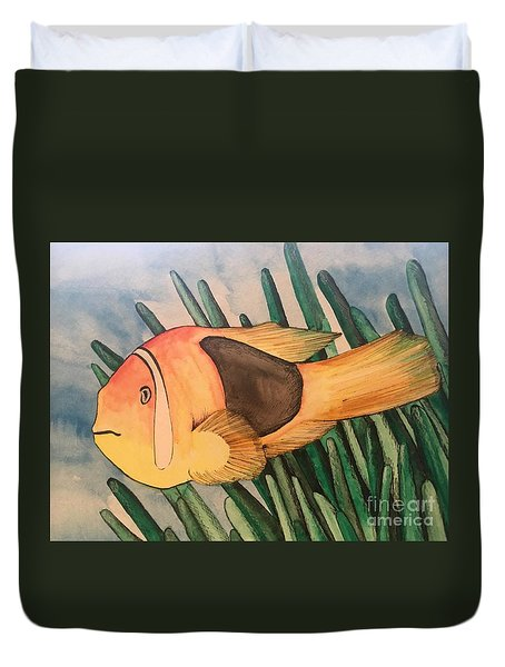 Tomato Clown Fish Duvet Cover