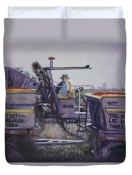 Tomato Harvest Time Duvet Cover