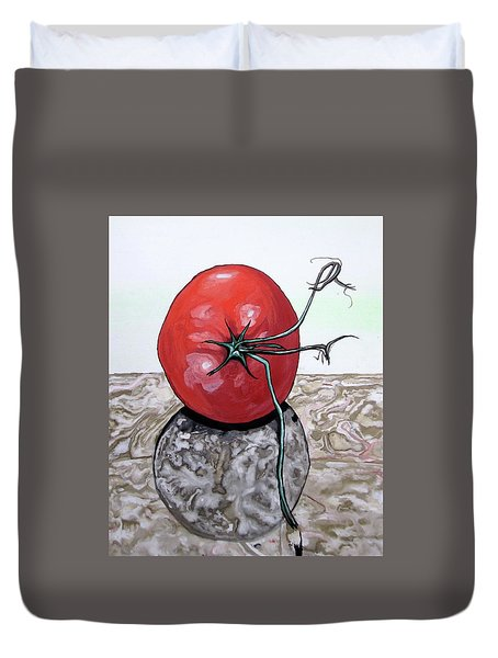 Tomato On Marble Duvet Cover