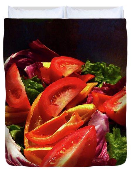 Tomato Salad Duvet Cover