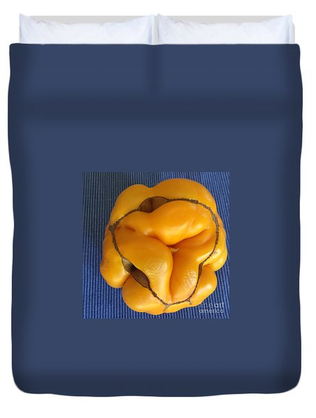 Tomatoe Bottom Duvet Cover by Suzanne Lorenz