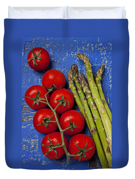 Tomatoes And Asparagus  Duvet Cover