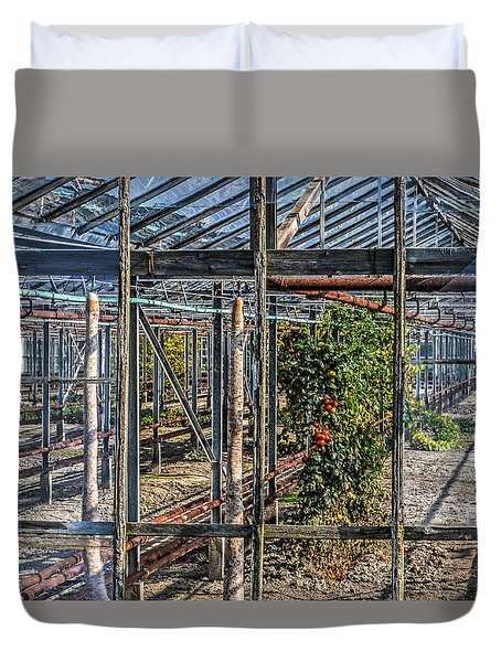 Tomatoes And Pumpkins Duvet Cover