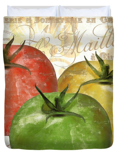 Tomatoes Tomates Duvet Cover by Mindy Sommers