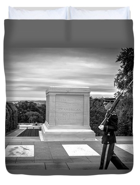 Tomb Of The Unknown Solider Duvet Cover