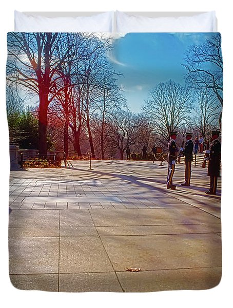 Tomb Of The Unknowns Duvet Cover