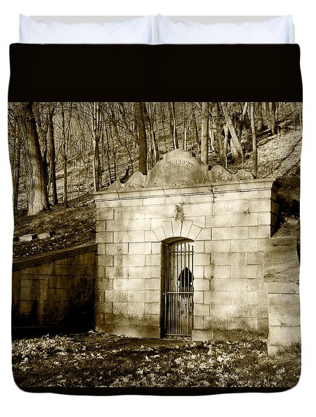 Tomb With A View In Sepia Duvet Cover