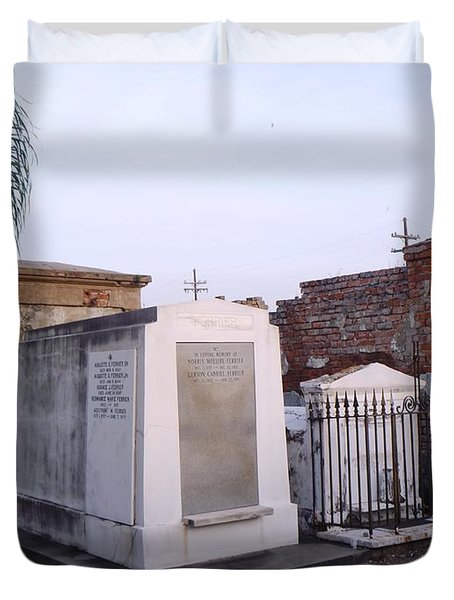 Tombs In St. Louis Cemetery Duvet Cover
