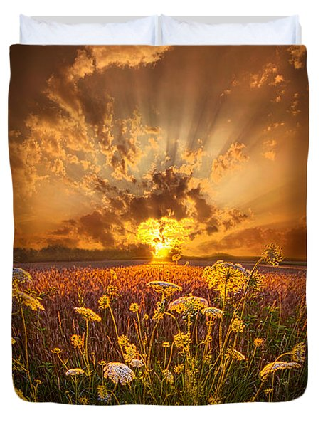 Tomorrow Is Just One Of Yesterday's Dreams Duvet Cover