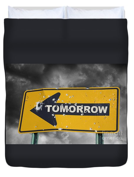 Tomorrow Duvet Cover