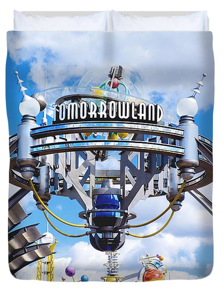 Duvet Cover featuring the photograph Tomorrowland by Greg Fortier