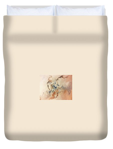 Duvet Cover featuring the painting Tomorrows Dream by Raymond Doward
