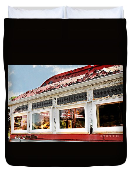Tom's Diner Ghost Duvet Cover
