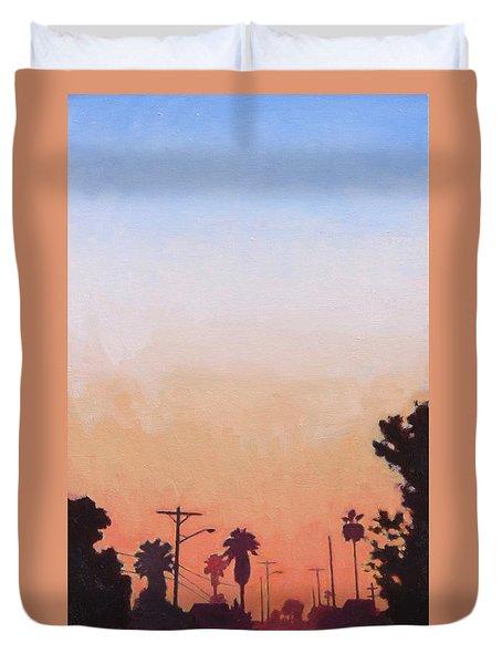 Tonal Hollywood Duvet Cover by Andrew Danielsen