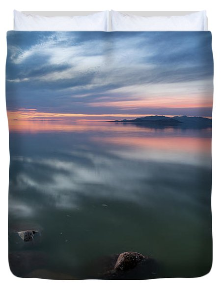 Tonal Sunset Duvet Cover by Justin Johnson
