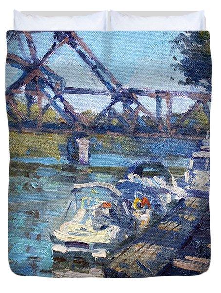 Tonawanda Jack Knife Bridge Duvet Cover